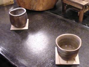 備前の器で昆布茶を頂けるお店もあります